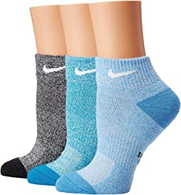 Nike - Performance Cushioned Mesh Quarter Training Socks 3-Pair Pack