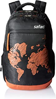 Safari WORLDMAP Polyester 35 Ltrs Black Laptop Backpack (WorldMap)