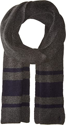 Polo Ralph Lauren - Cashmere Blend Rugby Stripe Scarf