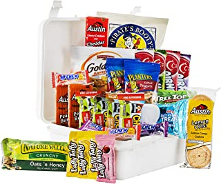 Hangry Kit Hard Plastic Snack Kit for College Students, Care Package or Gift Pack, Includes Energy Bars, Mac n Cheese, Popcorn, Ramen, and More, 100% Guaranteed (XXL)