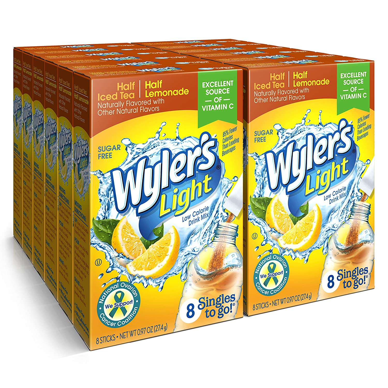 Branded goods Wyler's Light Singles To Go Powder Water Hal Mix Drink Now on sale Packets