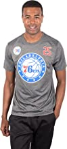 Ultra Game Men's NFL Player Name And Number S/S Poly T, Philadelphia 76ers, Charcoal Heather, Large