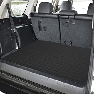 """FH Group F16500 Deluxe Heavy-Duty Faux Leather Multi-Purpose Cargo Liner, Striped, 32"""" : 40"""" x 32"""", Black Color- Fit Most Car, Truck, SUV, or Van"""