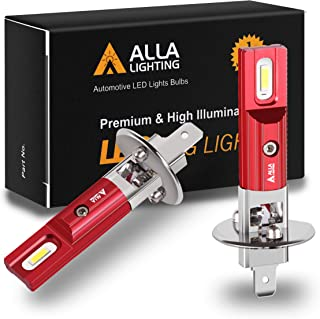 Alla Lighting P14.5s Base H1 LED Bulbs Fog Lights Replacement Xtreme Super Bright Newest 1860-SMD 78105 448 48320, 6000K X...