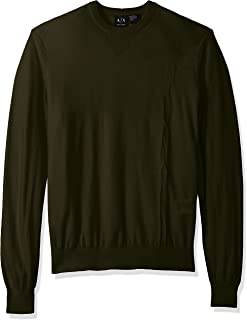 A|X Armani Exchange Men's Long Sleeve Crew Neck Pullover Knit Reg Fit