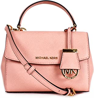 Pale Pink Ava Extra Small Saffiano Leather Crossbody Bag