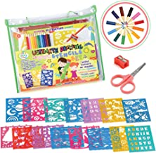 STENZTIME Ultimate Stencil Set | Large 70 Piece Stencil Drawing Kit and Over 260 Shapes | Ideal Educational Toy and Creati...