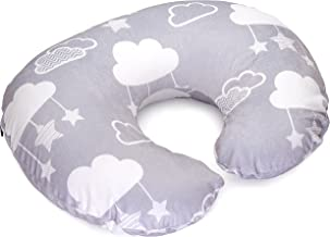 Minky Nursing Pillow Cover - Perfect Slipcover for Breastfeeding Moms   Soft Fabric Fits Snug On Infant Nursing Pillows to Aid Mothers While Breast Feeding   Stars and Clouds