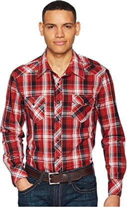 Rock and Roll Cowboy - Plaid Long Sleeve Snap B2S5718