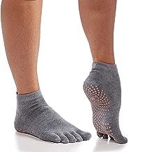 Gaiam Yoga Socks | Grippy Non Slip Sticky Full-Toe Grip Accessories for Women & Men | Hot Yoga, Pilates, Barre, Ballet, Da...