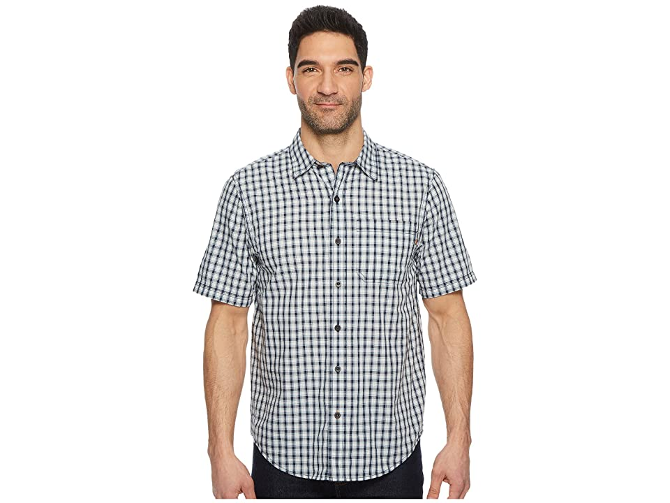 Timberland PRO Plotline Short Sleeve Plaid Work Shirt (Navy Plaid) Men