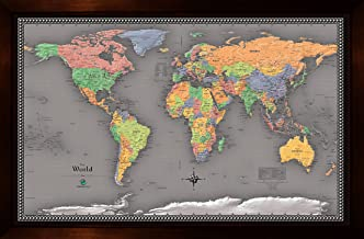 Homemagnetics 37 x 25 Modern World Magnetic Map
