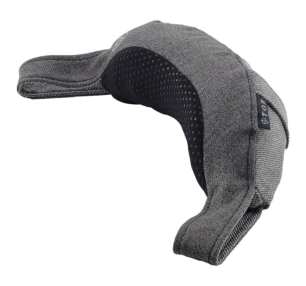 寝具脊椎エコーアテックス TOR ネックマッサージピロー グレー AX-HXT182gr