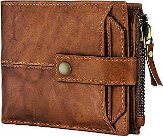 Spiffy Men's Genuine Leather Wallet for Men Purse (Brown)
