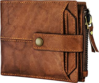 Spiffy Men's Genuine Leather Wallet for Men Purse (Brown)