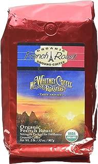 Mt. Whitney Coffee Roasters Organic French Dark Roast Coffee, Ground, 2 Pound