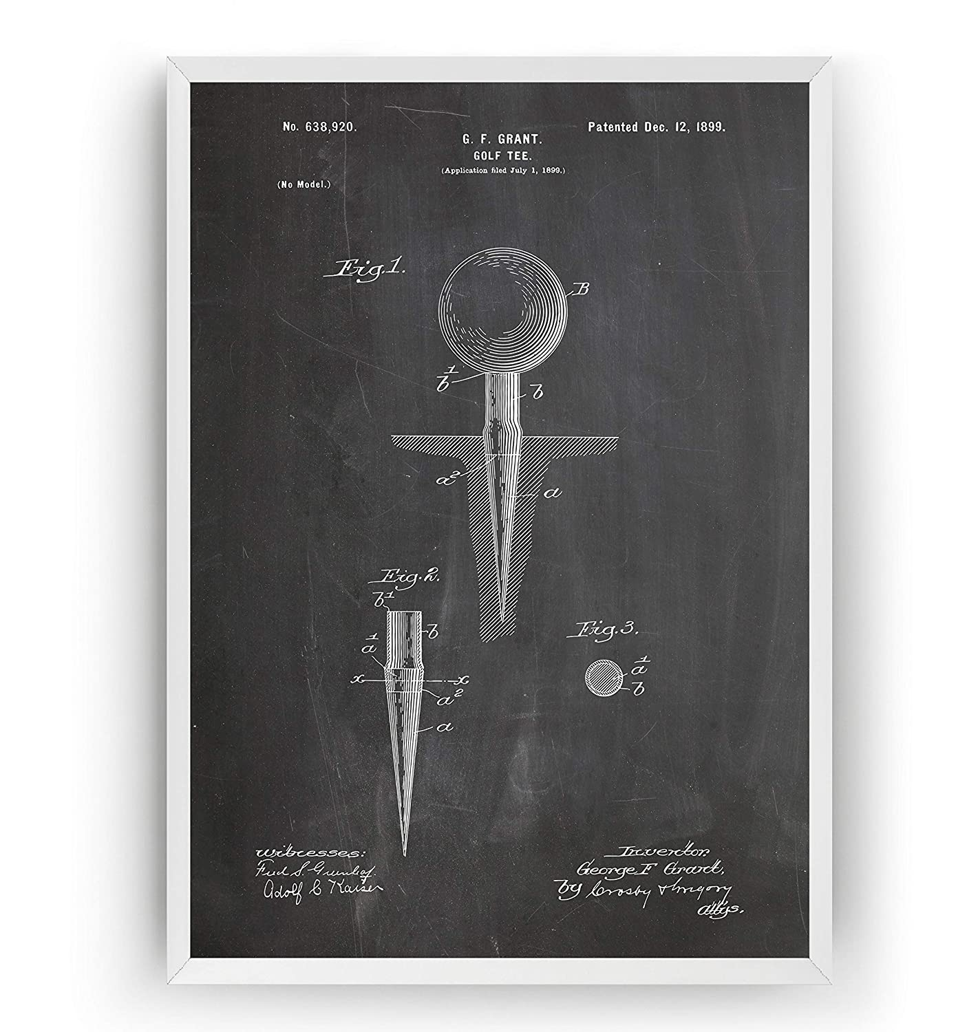 Animer and price revision Golf Tee 1899 Patent Print - Dad Sports Gift Vint Denver Mall Fathers Golfer