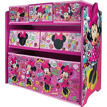 Urbnliving Disney Minnie Mouse Coffre A Jouets Organiseur A Etageres Pour Chambre D Enfant Salle De Jeux Amazon Fr Cuisine Maison