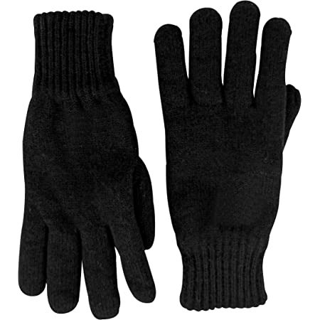 Sock Snob Mens 3M Black Thinsulate Thermal Lined Winter Gloves