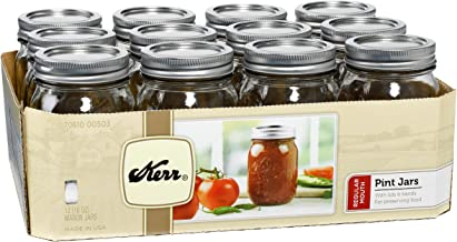 product image for Kerr Regular Mouth Jars with Lids and Bands, 16-Ounce, Set of 12