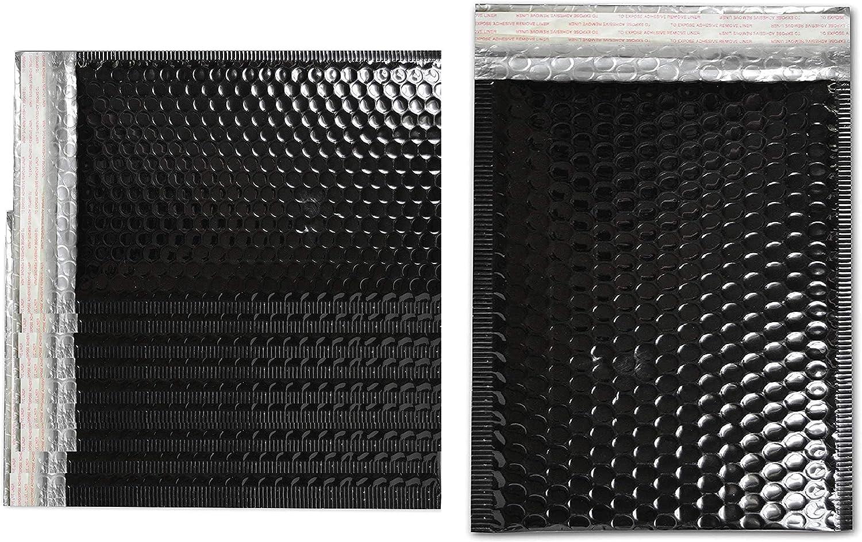 MMBM Regular dealer Metallic Bubble Mailers 9x11.5 25 Shiny Max 81% OFF Pack Inch Black