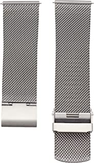 Skagen Men's 22mm Stainless Steel Mesh Dress Watch Strap, Color: Grey (Model: SKB6061)