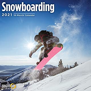 Bright Day Calendars 2021 Snowboarding Wall Calendar by Bright Day, 12 x 12 Inch, Snow Winter Sports