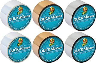 Duck Brand Adhesive Mini Mirror Craft Tape 6-Pack Bundle (Silver Gold Pearl)