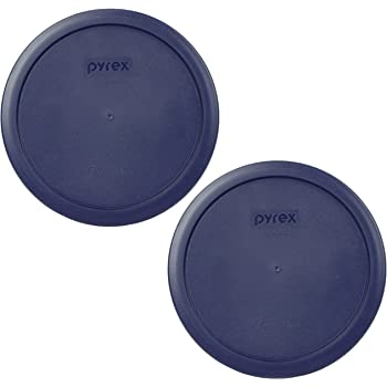 Pyrex 7402-PC Dark Blue 6/7 Cup Round Plastic Lid - 2 Pack