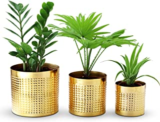 Folkliving Planters for Indoor Plants, Set of 3 Modern Farmhouse Flower Pots for House Plants and Artificial Plants, Perfe...