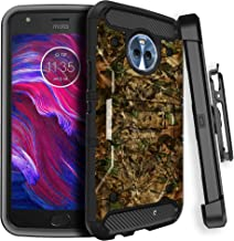 Motorola MOTO X4 All-Around Case [Rugged MINITURTLE Phone Case w/Carbon Fiber, Rotating Belt-Clip & Kickstand for Moto X4 ] MAX GUARD Case for X4 2017 MOTXT1900-MCBV4-483