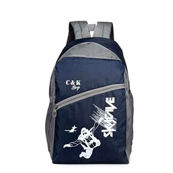 Chris & Kate Polyester 30 L Blue-Grey Spacious Comfort Casual Backpack Laptop Bag