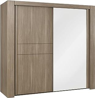 GAMI Moka Armoire 2 Portes coulissantes, Dressing, Finition Bois, 63 x 249 x 220 cm