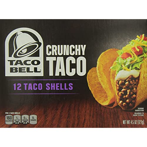 Taco Bell 12 Crunchy Taco Shells, 4.5 Ounce (Pack of 12)