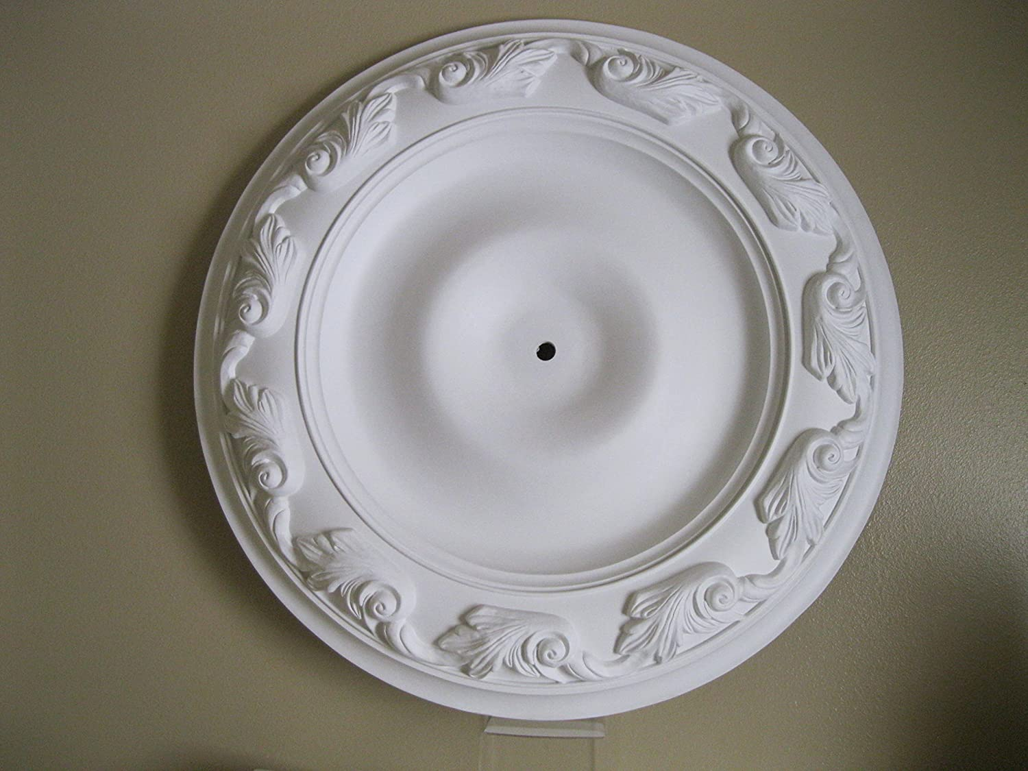 36 Inch Decorative Ceiling Medallion-  Lighting  Ceiling Fans White- Paintable