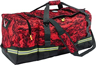 Ergodyne Arsenal 5008 Firefighter Turnout Gear and Safety Duffel Bag for Fire, Fall Protection and Sport Gear Bag Use, Red Camo