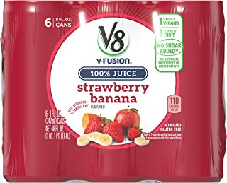 V8 Strawberry Banana, 8 oz. Can (4 packs of 6, Total of 24)