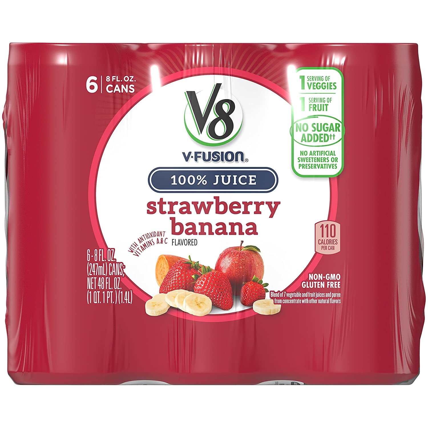 V8 Strawberry Banana 8 6 Can Brand Cheap Sale Venue Count oz. Ranking TOP12
