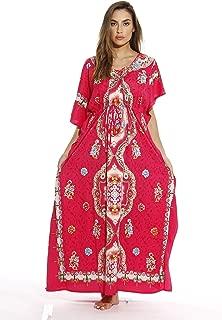 Maxi Length Cinch Waist Caftan Kaftans for Women