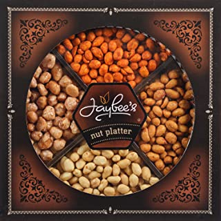Jaybee's Nuts Gift Tray - Great for Birthday, Corporate, Holiday Gift or Everyday Snack - Contains Tasty Toffee Peanuts, Spicy Red, Honey Roasted & Fresh Salted Peanuts, and Kosher Certified