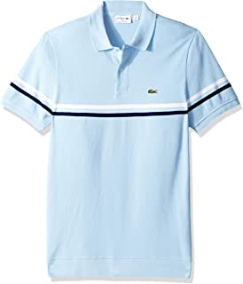 Lacoste Men's S/S Mix Stitch 2 Striped Polo Regular Fit