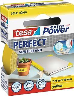 tesa Extra Power Perfect taśma tkana – wzmocniona tkaniną taśma Ductape do majsterkowania, naprawiania, mocowania, wzmacni...