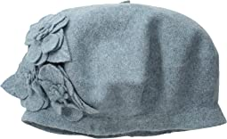 SDH0515 Wool Beret with Self Flowers