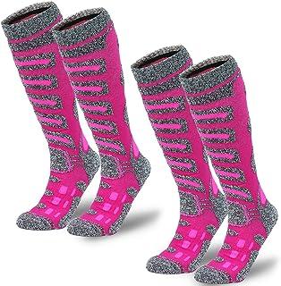 Camlinbo 2 Pair Ski Socks Skiing Snowboarding Cold Weather Winter Outdoor Sports Socks for Women Men