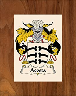 Carpe Diem Designs Acosta Coat of Arms/Acosta Family Crest 8X10 Photo Plaque, Personalized Gift, Wedding Gift