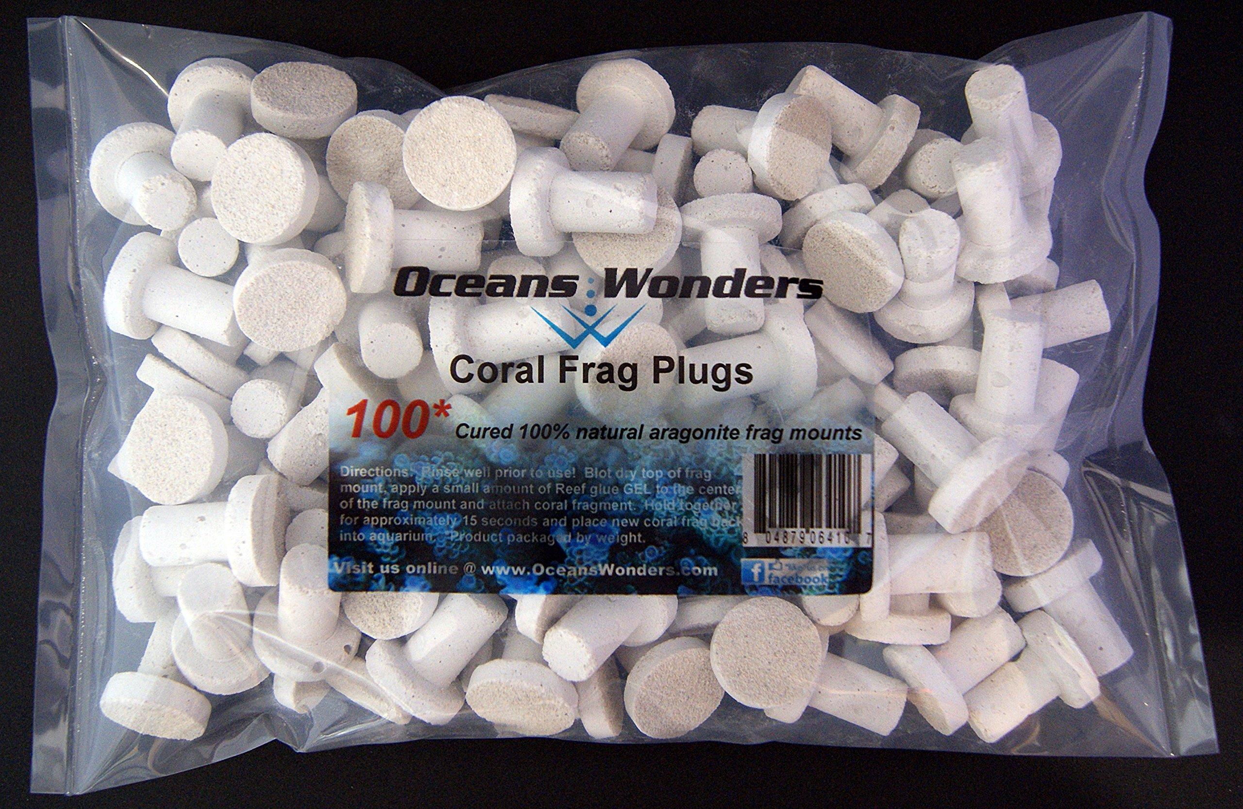 Oceans Wonders Coral Frag Plugs 100pc