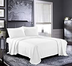 Fresh Linen Queen Sheets [4-Piece, White] Hotel Luxury Bed Sheets - Extra Soft 1800 Microfiber Sheet Set, Wrinkle, Fade, Stain Resistant - Deep Pocket Fitted Sheet, Flat Sheet, Pillow Cases