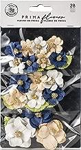 Prima Marketing 636654 Mulberry Paper Flowers-Morgan/Georgia Blues, 28/Pkg, Multi