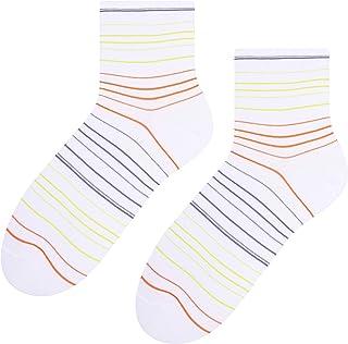 Steven, Calcetines de algodón escotados para mujer, duraderos y cómodos, color blanco, talla EU 35-37