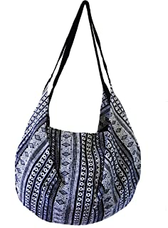 Large Aztec Yoga Convertible Crossbody Backpack Thai Cotton Hippie Hobo Sling Shoulder Bag